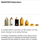 D&AD celebrates 50 years of creative excellence