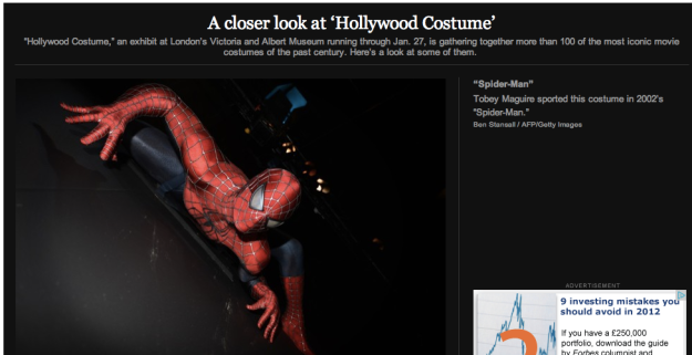 The Washington Post shows images from Hollywood Costume